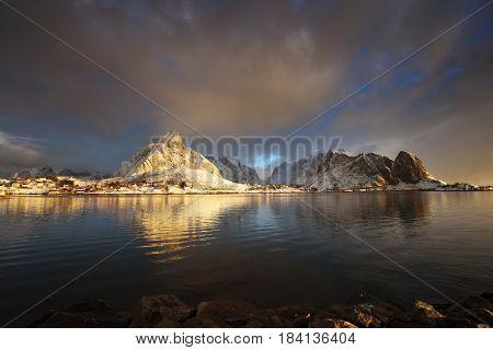 sunrise at Reine Village, Lofoten Islands, Norway