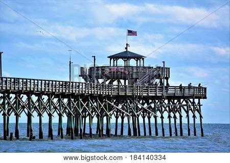 Cherry Grove Fishing Pier,  South Carolina USA