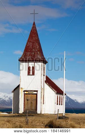 Church In The Hellnar Village In Iceland