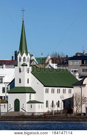 Frikirkjan Church In Reykjavik, Iceland