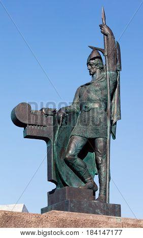 Statue Of Ingolf Arnarson In Arnarholl, Reykjavik, Iceland
