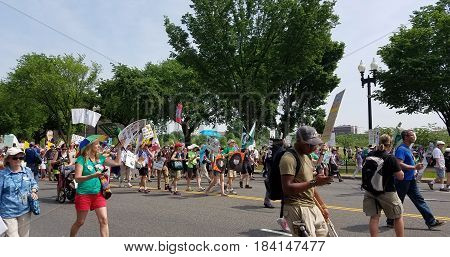 Washington Dc - April 29, 2017 Peoples Climate Movement