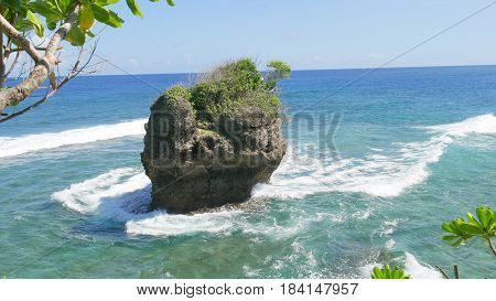Last Islet, Cape San Agustin, Davao Oriental, Philippines  The very last island at Cape San Agustin, past the three lighthouses at the southernmost barangay of Governor Generoso, Davao Oriental