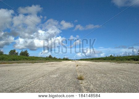 World War 11 Runway Able airfield, Tinian, Northern Mariana Islands One of the largest world war 11 airfields in North Field, Tinian is a National Historic Landmark District and now a tourist attraction.