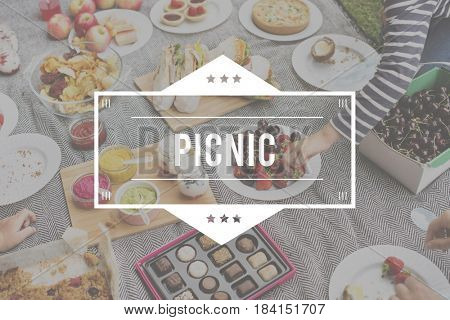 Food Words Picnic Party Appetite Meal