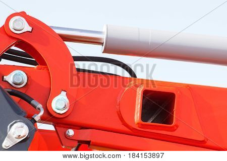Detail Of Pneumatic Or Hydraulic Machinery, Technology And Engineering Concept