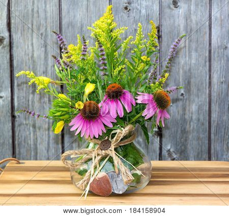 Echinacea And Solidago Blossoms.