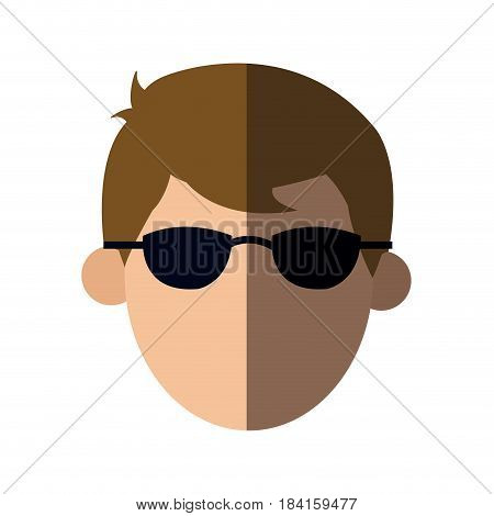 faceless head man with sunglasses people image vector illustration
