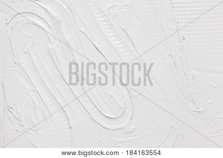 White Background Plaster Rough Daub Texture Structure Stucco Putty Repair Construction Concept