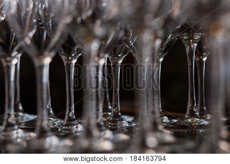 Lots Of Wine Glasses