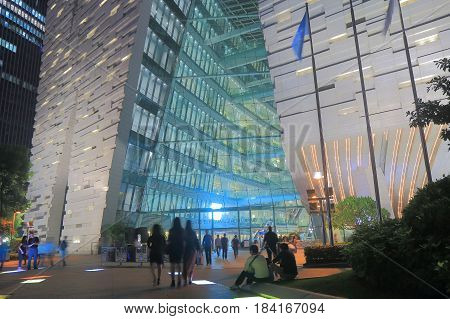 GUANGZHOU CHINA - NOVEMBER 13, 2016: Unidentified people visit contemporary Guangzhou library.