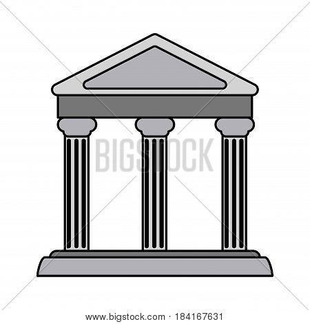 colorful realistic image parthenon architecture icon vector illustration