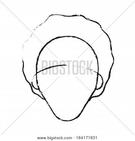 blurred silhouette caricature faceless front view woman with afro hair vector illustration