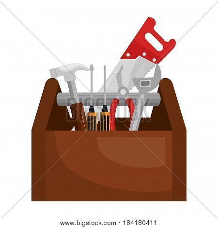 tools box construction tool isolated icon vector illustration design