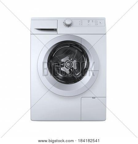 Modern Washing Machine isolated on white background. 3D render