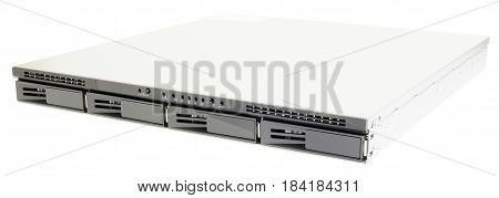 Network storage system isometric view isolated on the white background