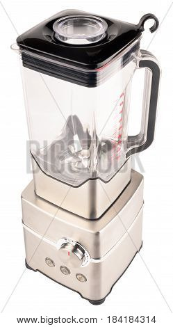 Stationary electrical blender above isometric view isolated on the white background