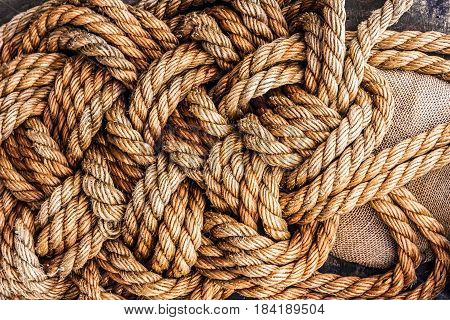 ropes jute tackle background natural marine pattern