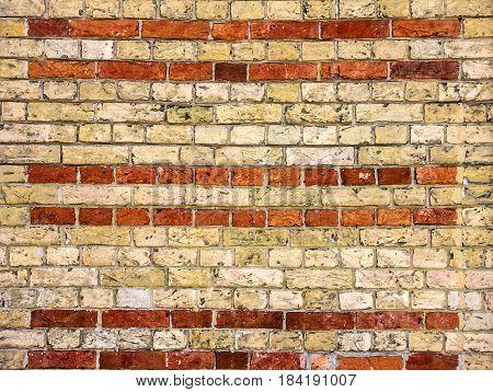 Bricks background, building wall pattern, construction element