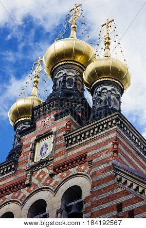 Copenhagen, Denmark - Russian orthodox church. Aleksandr Nevskij Kirk.