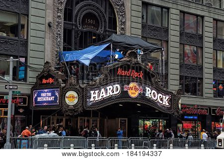 Hard Rock Cafe In New York, Usa