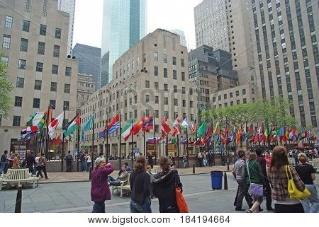 Flags Of United Nations Member Countries In New York, Usa