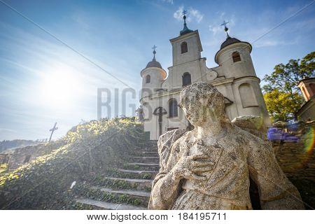 Calvary Church With Statue