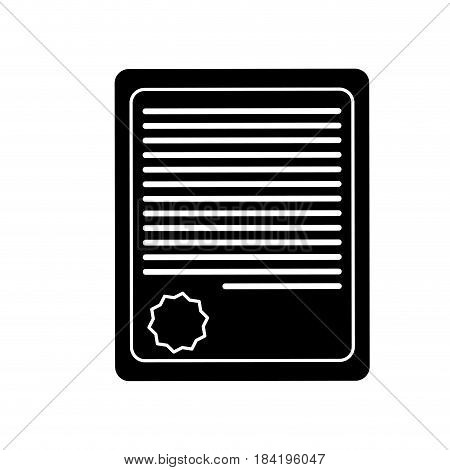 certificate page icon over white background. vector illustration
