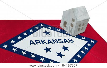 Small House On A Flag - Arkansas