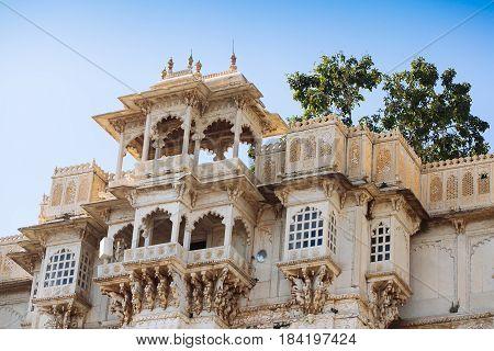 City Palace And Pichola Lake In Udaipur, Rajasthan, India