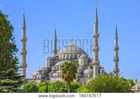Istanbul, Turkey. Blue mosque Sultanahmet building architecture
