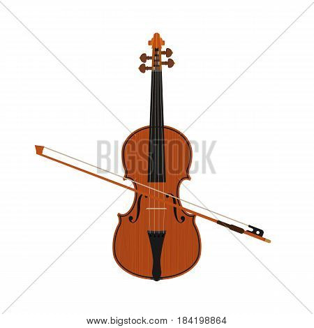 violin isolated on background. Vector illustration. Eps 10.