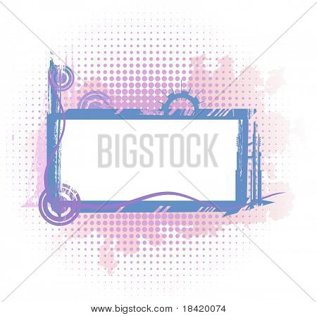 Violet industrial frame. Vector in my portfolio