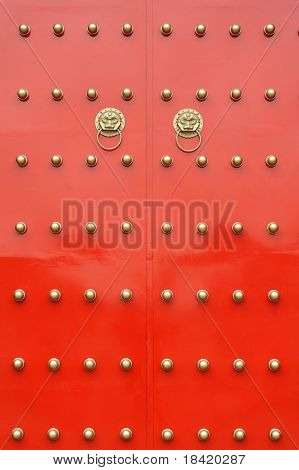 chinese traditional grand red gate