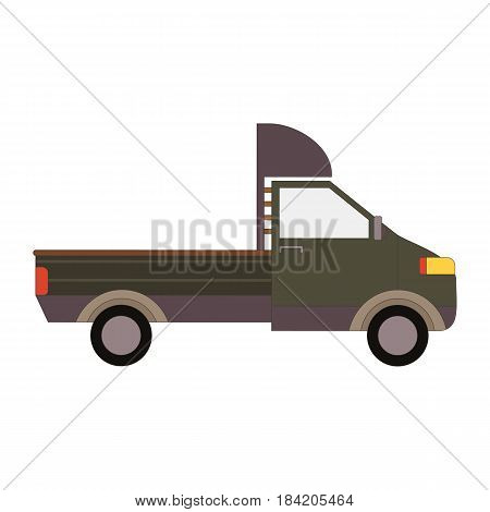 Commercial Delivery Van, Cargo Truck isolated on white. Vector illustration eps10