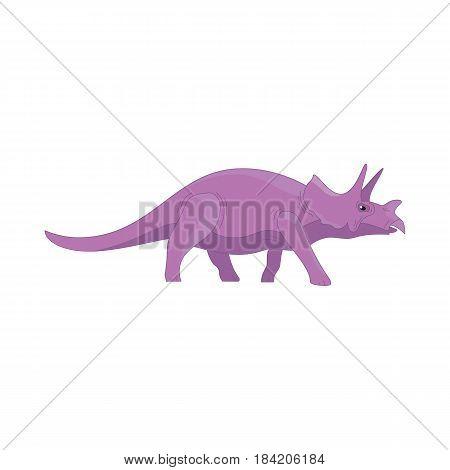Dinosaur cartoon cute funny monster. Cartoon dinosaurs character animal. Comic dinosaurs kids for game app. Vector illustration ui sign