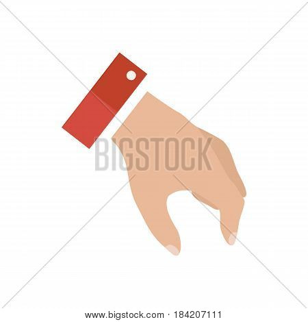 Open empty hands showing different gestures. Hands icon isolated on white background. Vector illustration EPS10