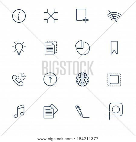 Set with icons in modern style. High quality symbols for web site design and mobile apps. Simple pictograms on a white background