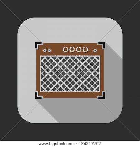 guitar amplifier icon isolated on white background .