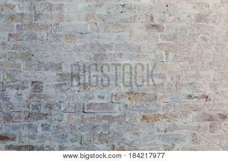 whitewash brick wall horizontal texture flat background