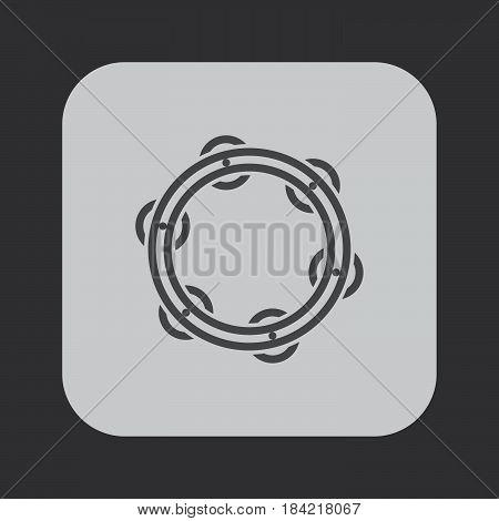 tambourine icon isolated on white background .