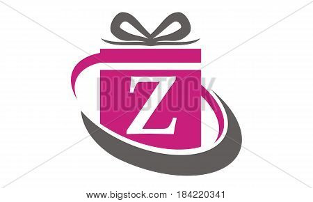 This Image describe about Gift Box Ribbon Letter Z
