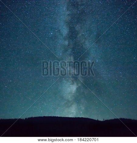 Night Dark Blue Sky With Many Stars