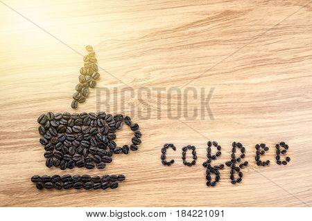 The Word 'coffee' Written With Coffee Beans
