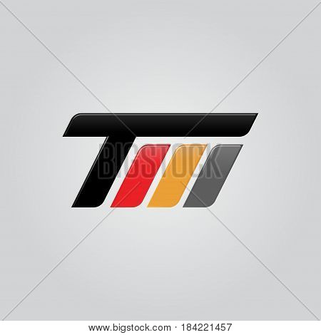 Creative letter TM logo concept design modern speed and professional feel. Very nice for brand identity .
