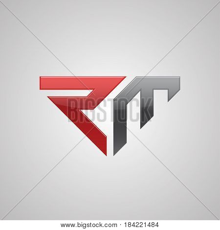Creative letter RM logo concept design modern bold and professional feel. Very nice for brand identity .