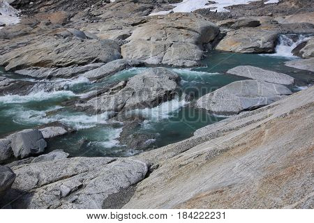 Glacial River And Stones