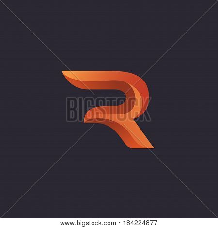 Creative letter R logo concept design with dimension style modern luxury and professional feel. Very nice for brand identity .