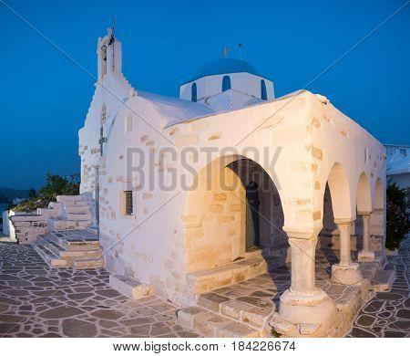 Small Church In Paros