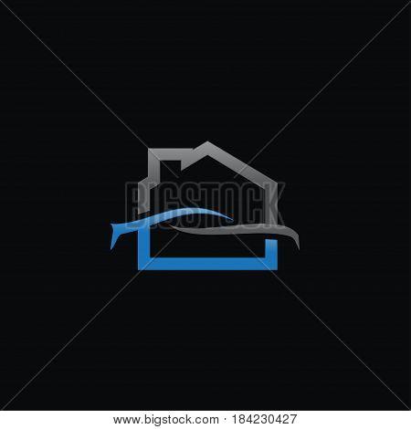 Creative Home Car Logo concept design templates